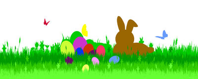 Vector illustration with Easter theme. Royalty Free Stock Image