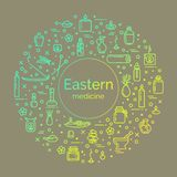 Vector illustration - Eastern medicine Royalty Free Stock Photos