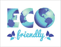 Vector illustration of Eco friendly concept. Royalty Free Stock Image