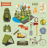 Vector illustration with ecotourism theme Stock Photography