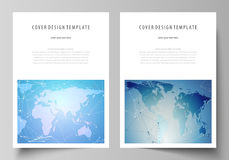 The vector illustration of the editable layout of A4 format covers design templates for brochure, magazine, flyer Stock Photos