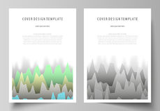 The vector illustration of the editable layout of A4 format covers design templates for brochure, magazine, flyer. Booklet, report. Rows of colored diagram Royalty Free Stock Images
