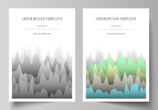 The vector illustration of the editable layout of A4 format covers design templates for brochure, magazine, flyer. Booklet, report. Rows of colored diagram Royalty Free Stock Photo