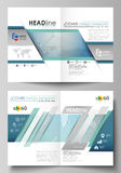 The vector illustration of the editable layout of two A4 format modern cover mockups design templates for brochure Royalty Free Stock Photography