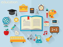 Vector illustration of education concept Royalty Free Stock Photos
