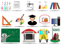 Vector illustration education icon set Stock Photography