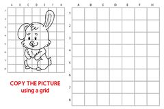Copy grid picture easter bunny