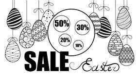Vector illustration of eggs. Easter. Eggs on a string. Backgroun vector illustration
