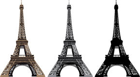 Vector illustration of Eiffel Tower. In Paris, France Royalty Free Stock Image