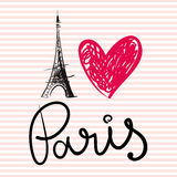 Vector illustration with Eiffel tower Stock Photo