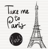 Vector illustration with Eiffel tower Stock Photos