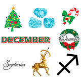 December Icons Royalty Free Stock Photo