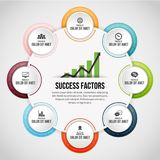 Eight Process Circle Clips Infographic. Vector illustration of Eight Process Circle Clips Infographic design element Royalty Free Stock Photo