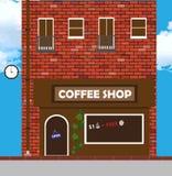 Vector Illustration eines Hauses mit einer Bäckerei Stockfoto