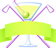 Golf Martini Stockbild