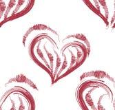 Vector Illustration eines nahtlosen Musters des roten Herzens Lizenzfreie Stockbilder