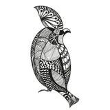 Vector Illustration eines Vogels in der grafischen abstrakten Art Stockbilder
