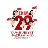 Vector illustration 29 ekim Cumhuriyet Bayrami Royalty Free Stock Photo
