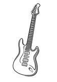 Vector illustration of an electric guitar Stock Photography