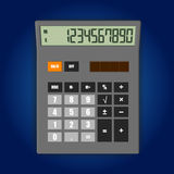 Vector illustration of electronic calculator. Vector illustration of realistic electronic calculator on soft background royalty free illustration