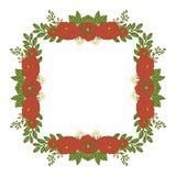 Vector illustration elegan rose red wreath frame for greeting card template vector illustration