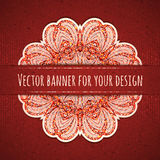 Vector illustration of elegance greeting card with Royalty Free Stock Image