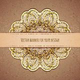 Vector illustration of elegance greeting card with Royalty Free Stock Photo