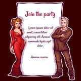 Vector illustration of elegant party invitation Royalty Free Stock Photos