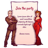 Vector illustration of elegant party invitation Royalty Free Stock Photography