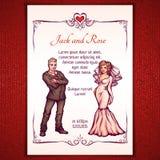 Vector illustration of elegant wedding Royalty Free Stock Photo
