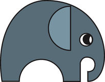 Vector illustration of a elephant. Vector illustration of a stylized  elephant Stock Image