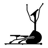Vector illustration of elliptical trainer Stock Images