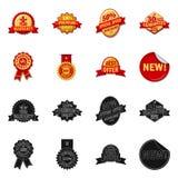 Vector illustration of emblem and badge logo. Collection of emblem and sticker vector icon for stock. Isolated object of emblem and badge icon. Set of emblem royalty free illustration