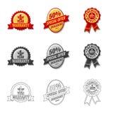 Vector design of emblem and badge sign. Set of emblem and sticker stock symbol for web. Vector illustration of emblem and badge logo. Collection of emblem and Vector Illustration