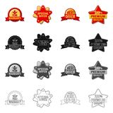 Vector illustration of emblem and badge logo. Collection of emblem and sticker stock vector illustration. Isolated object of emblem and badge icon. Set of Stock Illustration