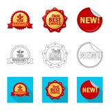 Vector design of emblem and badge sign. Collection of emblem and sticker stock symbol for web. Vector illustration of emblem and badge logo. Set of emblem and stock illustration