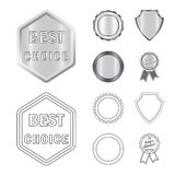 Vector design of emblem and badge sign. Collection of emblem and sticker vector icon for stock. Vector illustration of emblem and badge logo. Set of emblem and Stock Illustration
