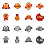 Vector illustration of emblem and badge sign. Collection of emblem and sticker stock symbol for web. Isolated object of emblem and badge logo. Set of emblem and vector illustration