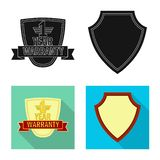 Vector illustration of emblem and badge sign. Set of emblem and sticker vector icon for stock. Isolated object of emblem and badge logo. Collection of emblem Vector Illustration