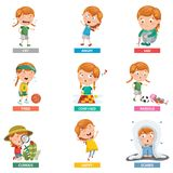 Vector Illustration Of Emotions. Eps 10 stock illustration