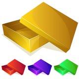 Empty yellow box Royalty Free Stock Photography
