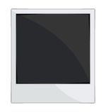 Empty photo frames on white background. Vector illustration of the Empty photo frames on white background Stock Photos