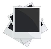 Empty photo frames on white background. Vector illustration of the Empty photo frames on white background Stock Photography