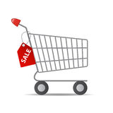 Vector Illustration of Empty Supermarket Shopping Royalty Free Stock Image