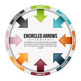 Encircled Arrows Infographic Royalty Free Stock Photos