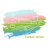 Vector illustration energy-efficient construction. Stock Photography