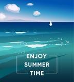 Vector illustration Enjoy Summer Time. Stock Images
