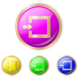 Vector illustration of entrance button. Entrance sign icon.Set of buttons in different colors stock illustration