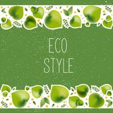 Vector illustration for environmental theme - eco style stock illustration