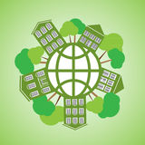 Vector illustration environmentally friendly planet Royalty Free Stock Image